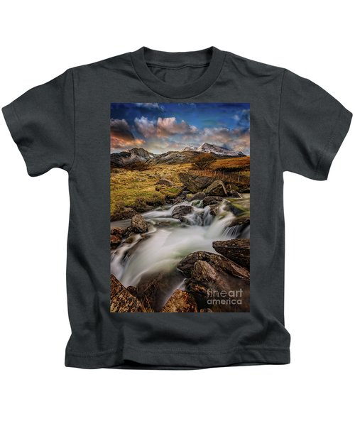 Mountains North Wales Kids T-Shirt