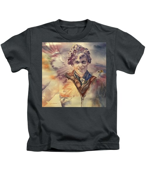 On Eagles Wings Kids T-Shirt