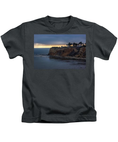 Point Vicente Lighthouse At Sunset Kids T-Shirt