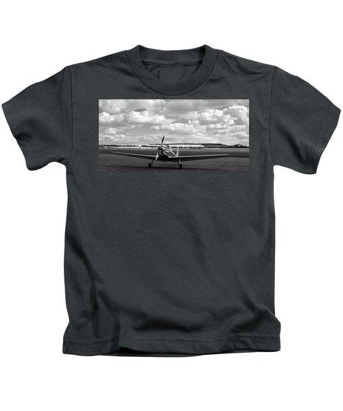 Silver Airplane Duxford England Kids T-Shirt