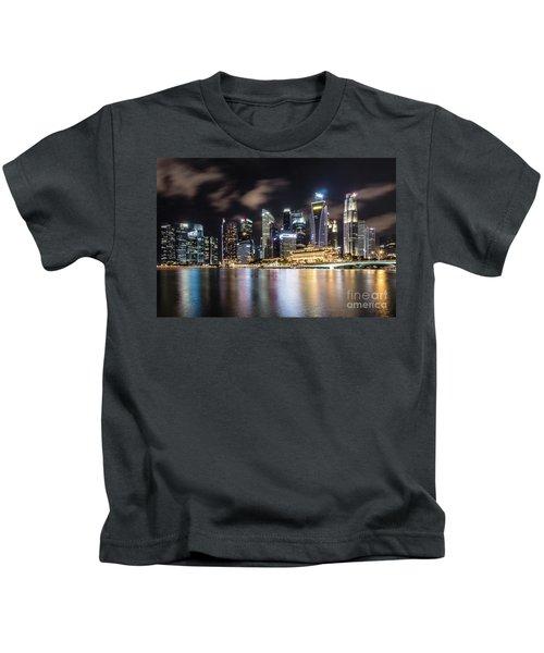 Singapore By Night Kids T-Shirt