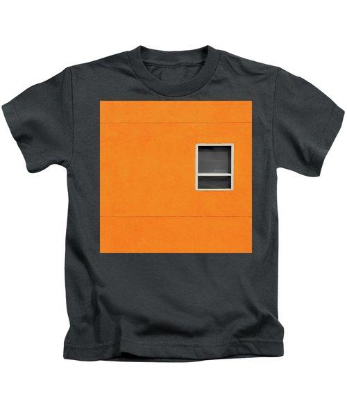Very Orange Wall Kids T-Shirt