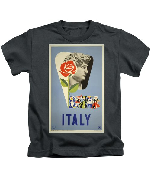 Vintage Travel Poster - Italy Kids T-Shirt