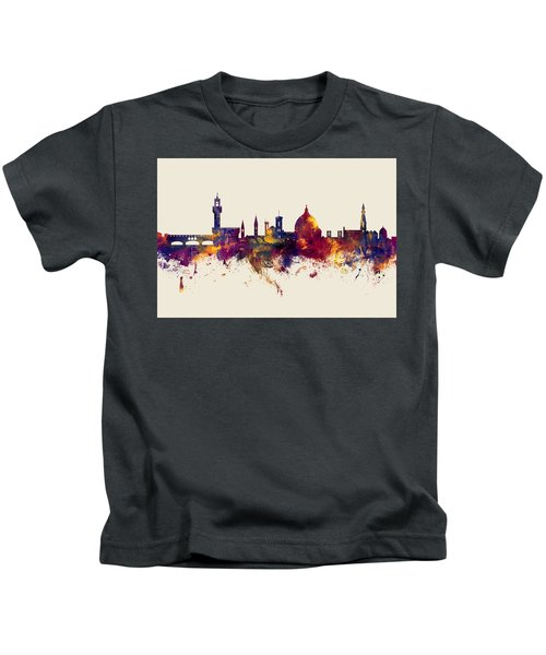 Florence Italy Skyline Kids T-Shirt