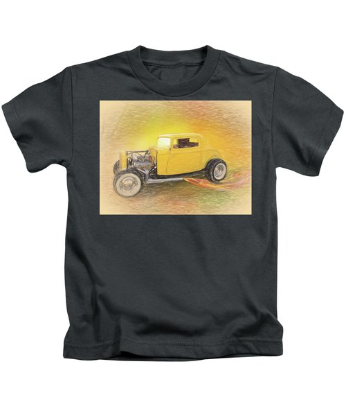 1932 Ford Coupe Yellow Kids T-Shirt