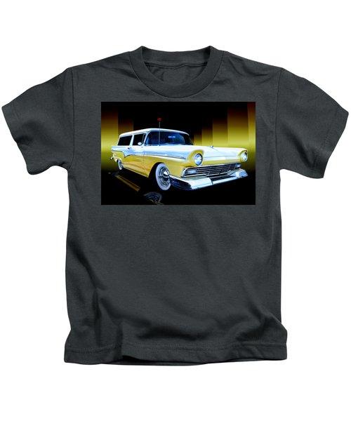 1957 Ford Del Rio Wagon Kids T-Shirt