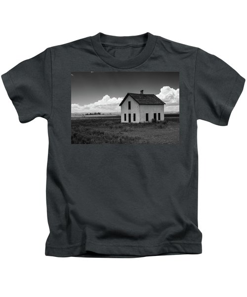 Old Abandoned House In Farming Area Kids T-Shirt
