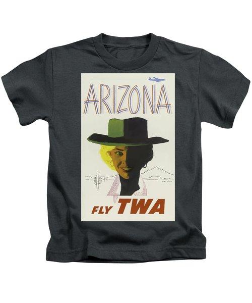 Vintage Travel Poster - Arizona Kids T-Shirt