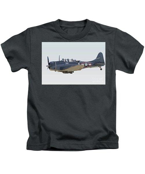 Vintage World War II Dive Bomber Kids T-Shirt