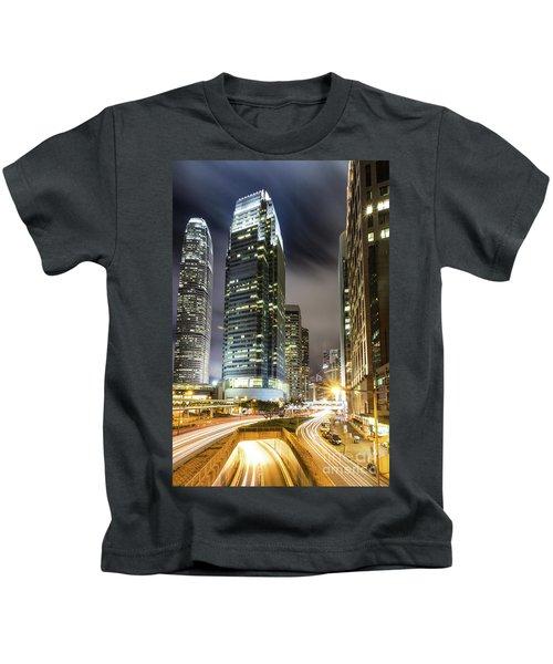 Hong Kong Night Rush Kids T-Shirt