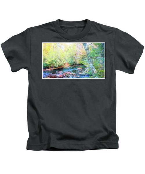 Pocono Mountain Stream, Pennsylvania Kids T-Shirt