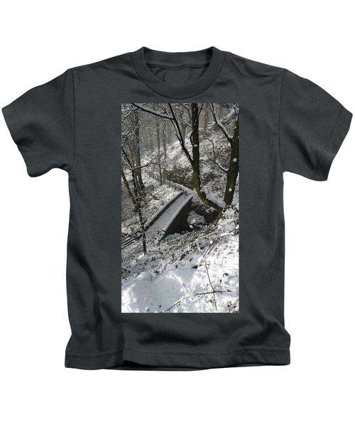 30/01/19  Rivington. Cascade Bridge. Kids T-Shirt