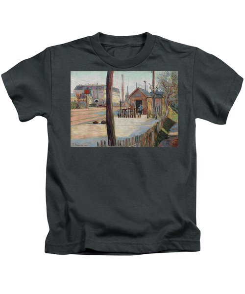 Railway Junction Near Bois-colombes Kids T-Shirt