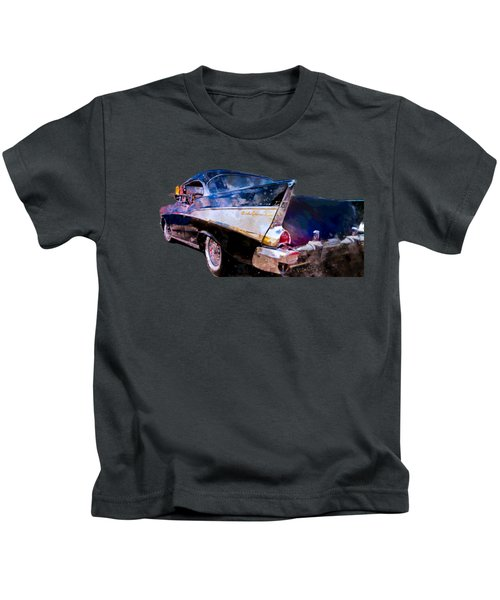 57 Belair Dragon Drivein Date Night Saturday Night Kids T-Shirt