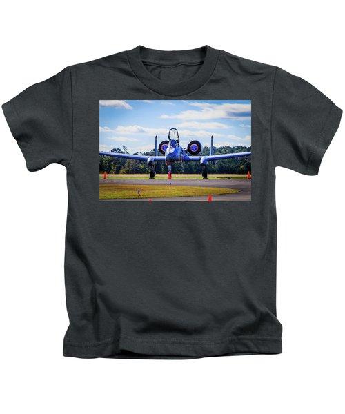 Kids T-Shirt featuring the photograph A-10c Thunderbolt II by Doug Camara
