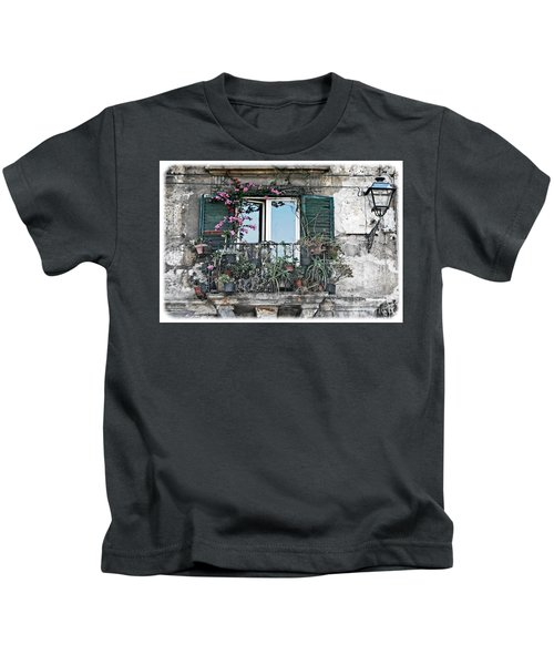 A Balcony In Palermo Kids T-Shirt