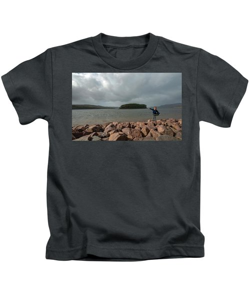 A Charming Little Girl In The Isle Of Skye 1 Kids T-Shirt