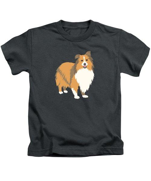 A Happy Home Has A Sheltie A Shetland Sheepdog Kids T-Shirt