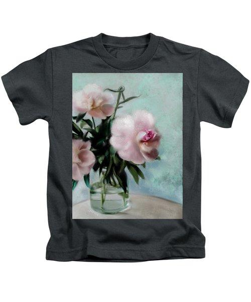 A Vase Of Peonies Kids T-Shirt