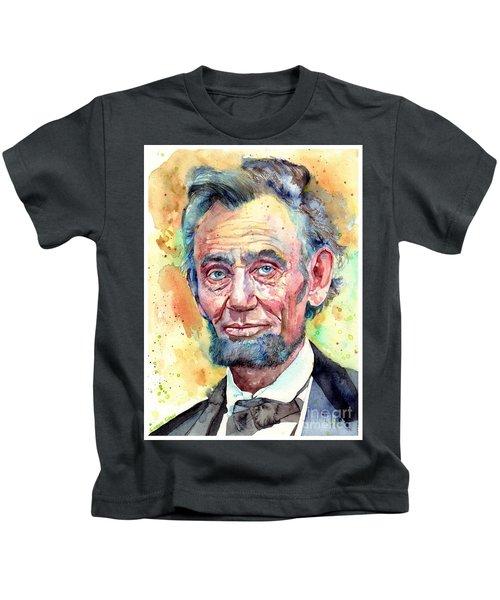 Abraham Lincoln Portrait Kids T-Shirt