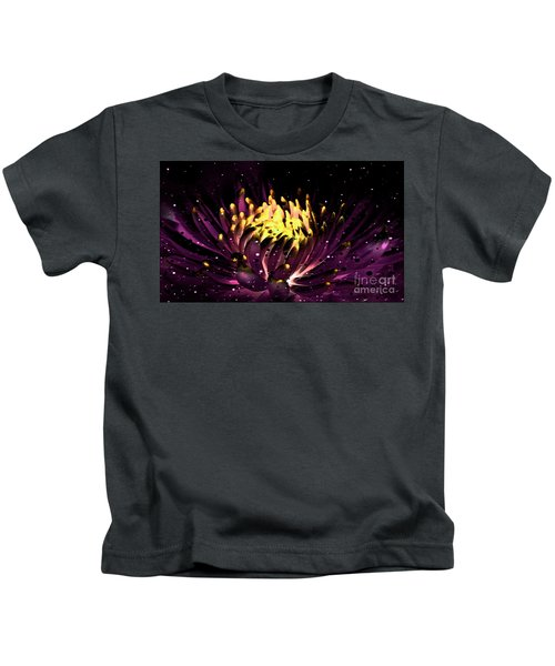 Abstract Digital Dahlia Floral Cosmos 891 Kids T-Shirt