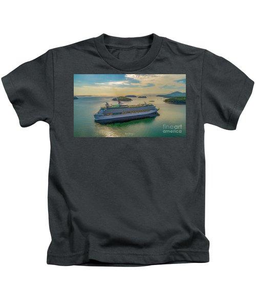 Adventure Of The Seas, Bar Harbor  Kids T-Shirt