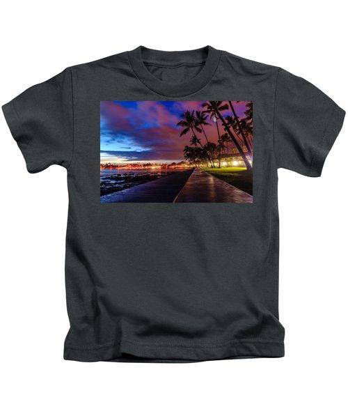 After Sunset At Kona Inn Kids T-Shirt