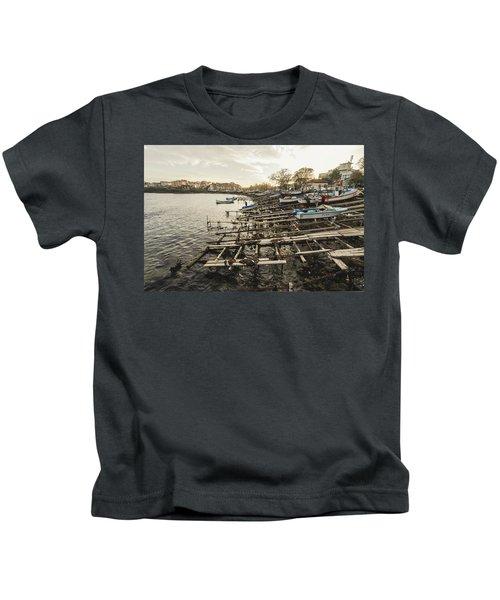 Ahtopol Fishing Town Kids T-Shirt