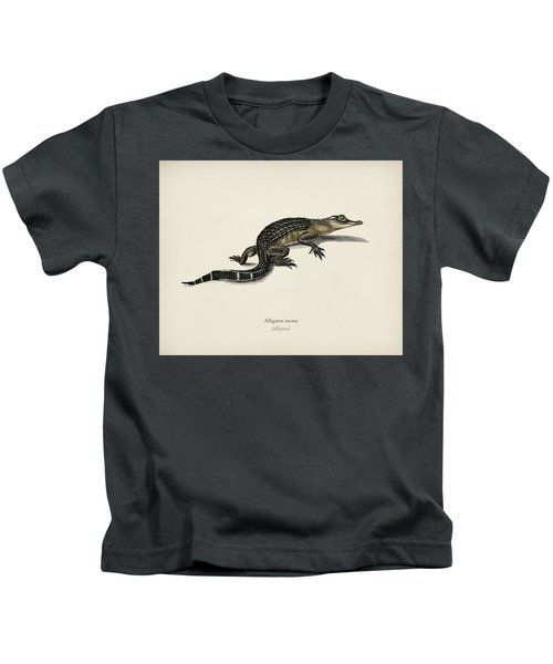 Alligator  Alligator Incius  Illustrated By Charles Dessalines D' Orbigny  1806-1876 . Kids T-Shirt