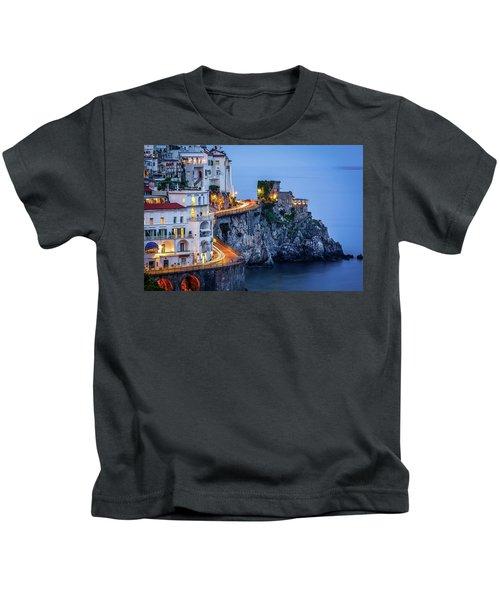 Amalfi Coast Italy Nightlife Kids T-Shirt