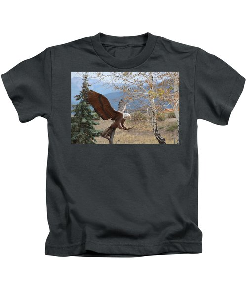 American Eagle In Autumn Kids T-Shirt
