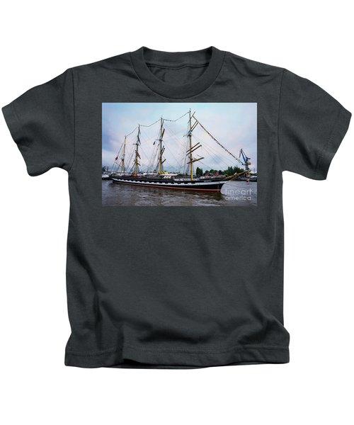 An Exit Sailboat Krusenstern On Parade Kids T-Shirt