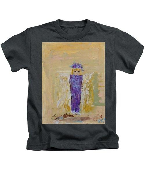 Angel Girl With A Unicorn Kids T-Shirt