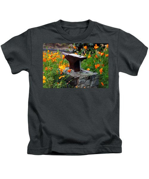 Anvil In The Poppies Kids T-Shirt