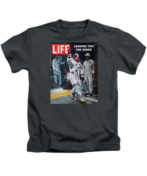 Apollo 11 Life Magazine Cover Kids T-Shirt