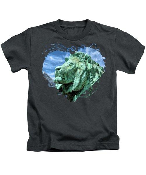Art Institute In Chicago Lion Kids T-Shirt