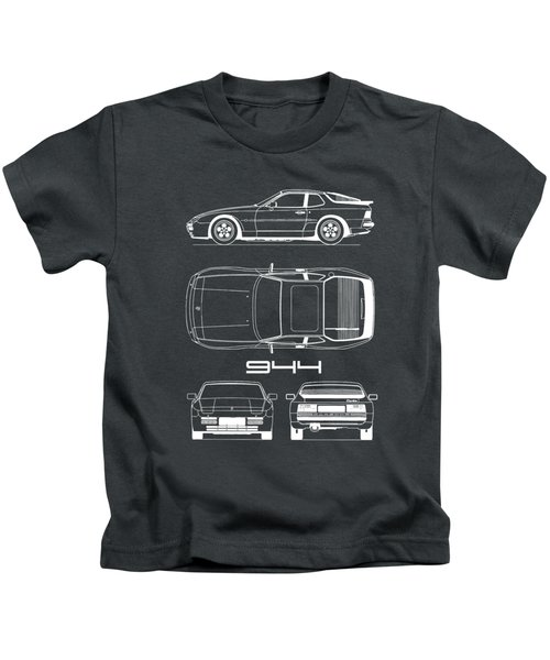 Porsche 944 Blueprint Kids T-Shirt