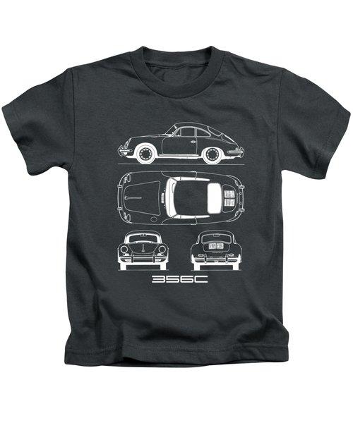 Porsche 356 C Blueprint Kids T-Shirt