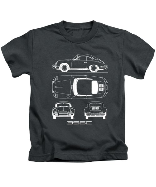 Porsche 356 C Blueprint Kids T-Shirt