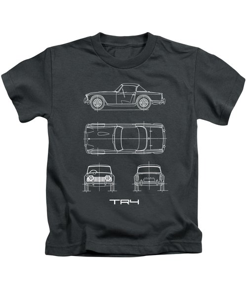 Triumph Tr4 Blueprint Kids T-Shirt