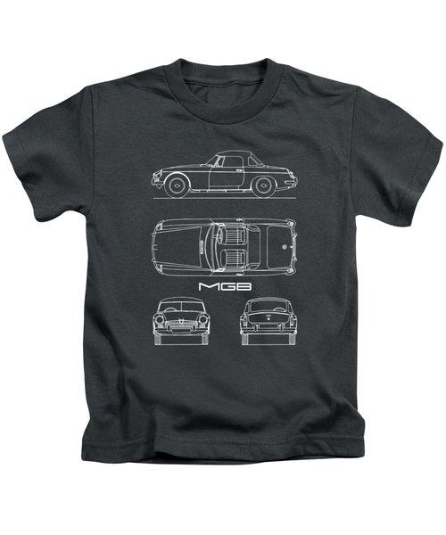 Mgb Blueprint - Black Kids T-Shirt