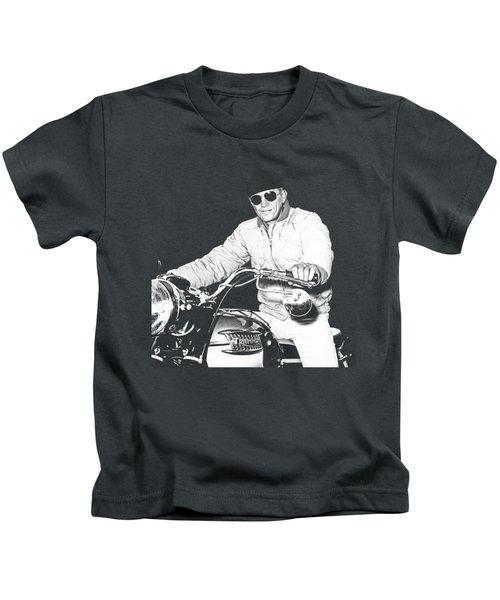 Steve Mcqueen Triumph Kids T-Shirt