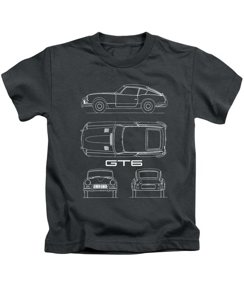 Triumph Gt6 Blueprint Kids T-Shirt