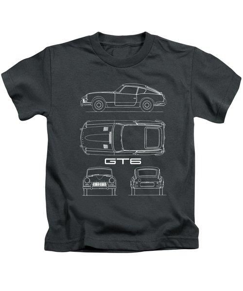 Triumph Gt6 Blueprint Kids T-Shirt