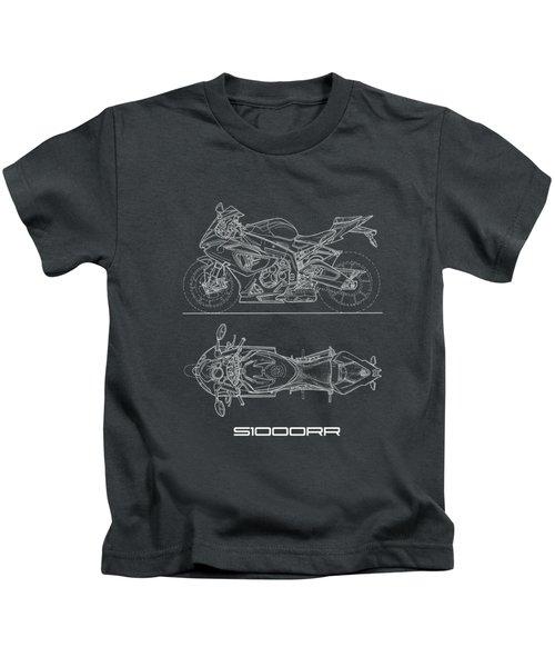 Blueprint Of A S1000rr Motorcycle Kids T-Shirt