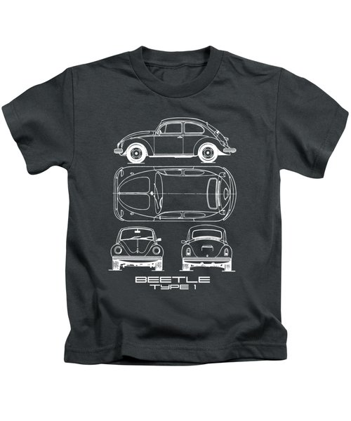 The Classic Beetle Blueprint Kids T-Shirt
