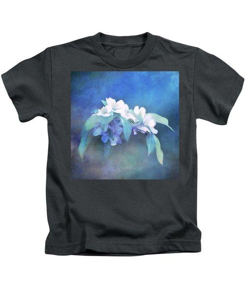 Painted Crabapple Blossoms Kids T-Shirt