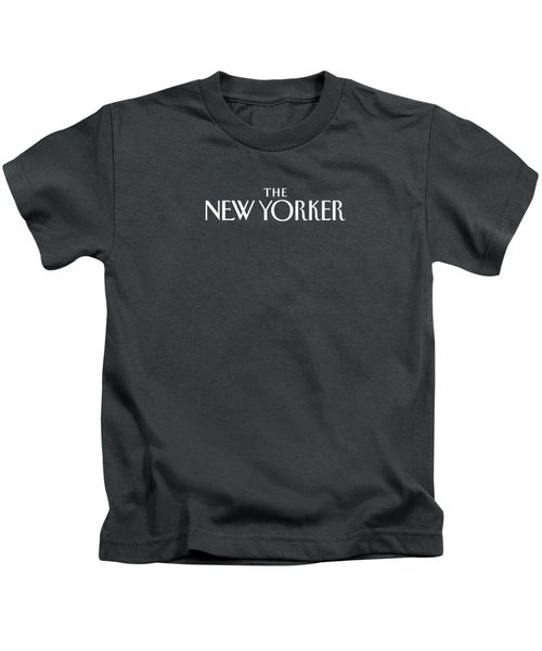 The New Yorker Logo - Back Of Apparel Kids T-Shirt
