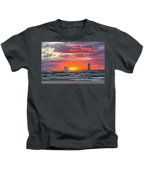 At The Beginning Of The Sunset Kids T-Shirt