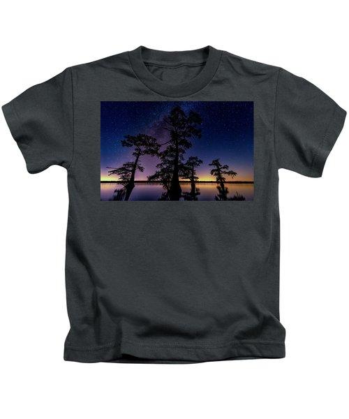 Atchafalaya Basin Under The Miky Way Kids T-Shirt